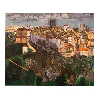 """1954 Raul Dufy, """"Vence"""" First Edition Lithograph For Sale"""
