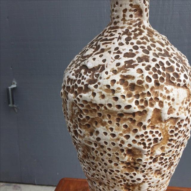 Ceramic Coral Table Lamp & Maria Kipp Shade For Sale - Image 4 of 5
