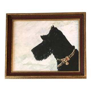 Scottie in Snow Dog Print by Judy Henn For Sale