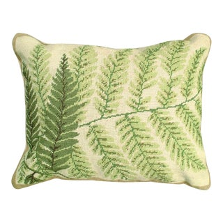 Fern Needlepoint Pillow For Sale