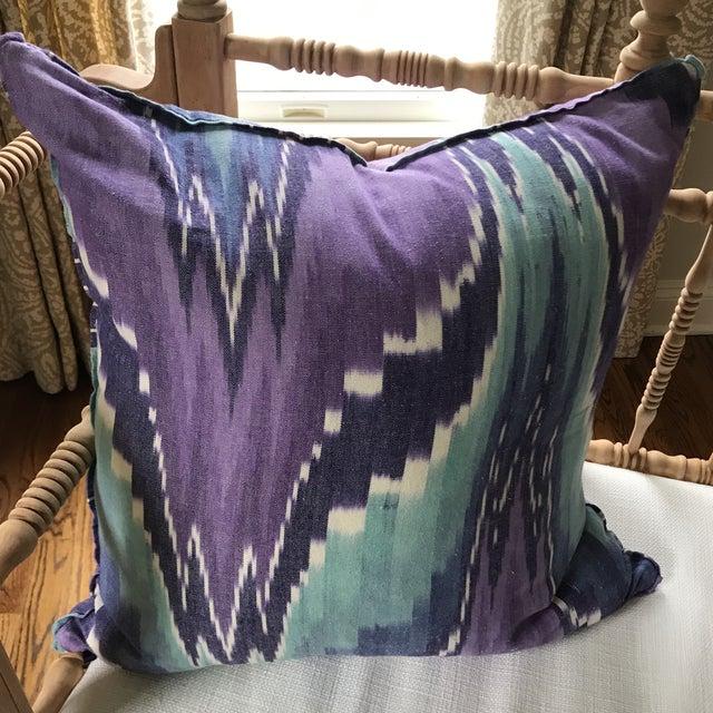 Ikat Butterfly Linen Pillows - A Pair - Image 5 of 9