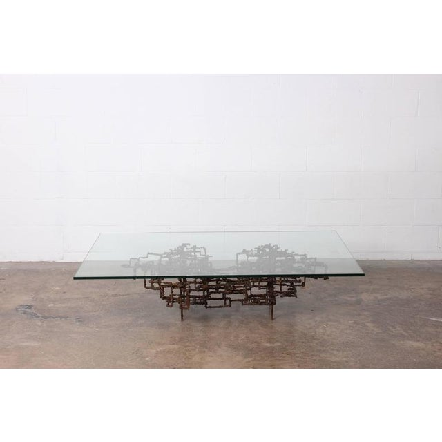 Bronze Brutalist Coffee Table by Daniel Gluck - Image 2 of 10