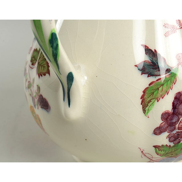Mid 20th Century Mason's Fruit Basket Red Multicolor 24 Oz Jug For Sale - Image 5 of 7