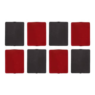 Charlotte Perriand 'Applique á Volet Pivotant' Red & Black Wall Lights - Set of 8 For Sale