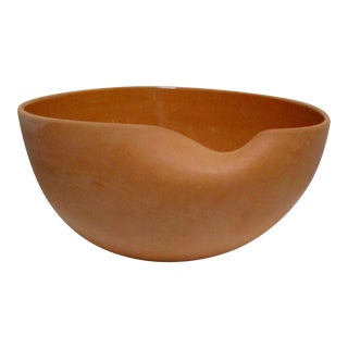 Elsa Peretti for Tiffany & Co. Italian Terracotta Thumbprint Bowl For Sale