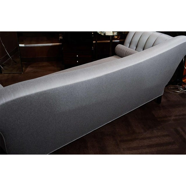 Gray 1940s Hollywood Scrolled Sofa For Sale - Image 8 of 11