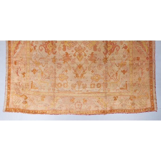 Beige Ground Oushack Carpet For Sale - Image 4 of 6