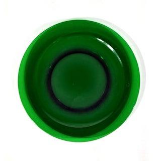 1950s Large Dark Green Glass Cake Platter Preview