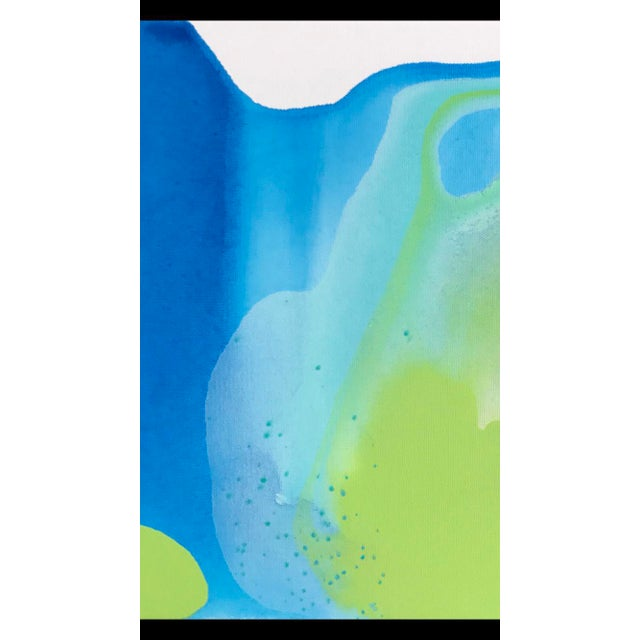 Blue Green Painting by Matthew Izzo - Image 2 of 4