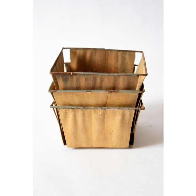 1950s Boho Chic Style Gold Metal Berry Baskets - Set of 3 For Sale - Image 9 of 10
