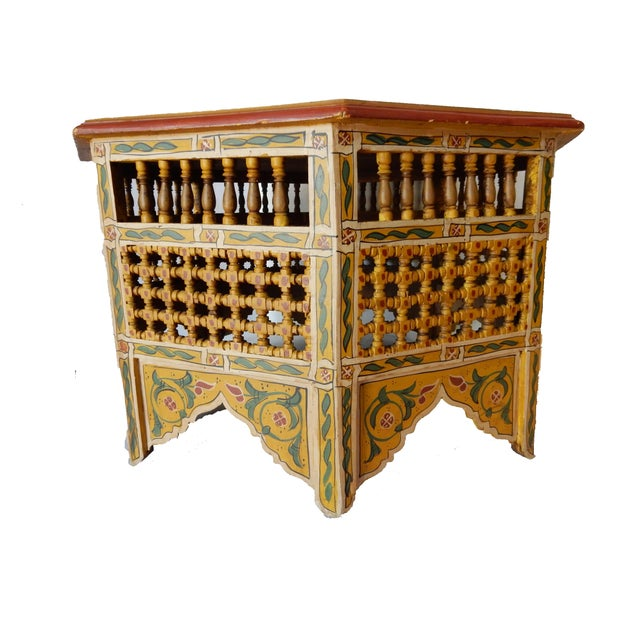 Moroccan 8 Sided Coffee Table - Image 4 of 10
