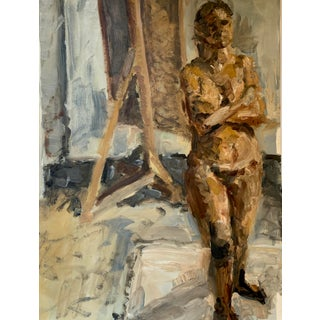 Vintage Figurative Painting For Sale