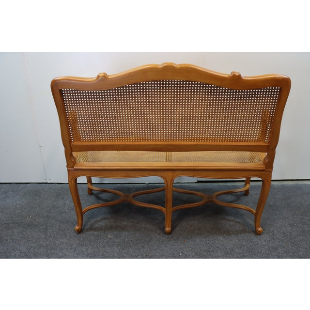 Louis XV Style Walnut and Caned Settee For Sale In Philadelphia - Image 6 of 8