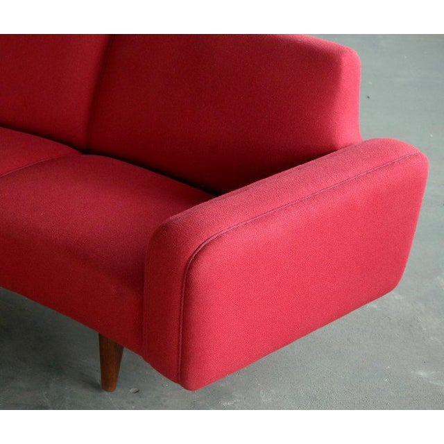 Large Danish 1960s Illum Wikkelso for Aarhus Model 450 Curved Sofas - a Pair For Sale - Image 9 of 13