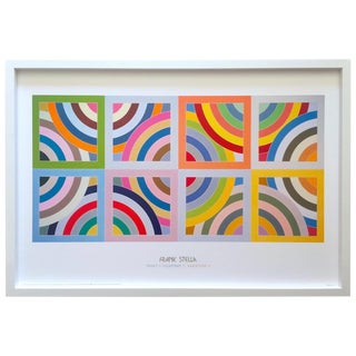 "Frank Stella Rare Lithograph Print Framed Abstract Modernist Poster "" Takht - I - Sulayman Variation II "" 1969 For Sale"