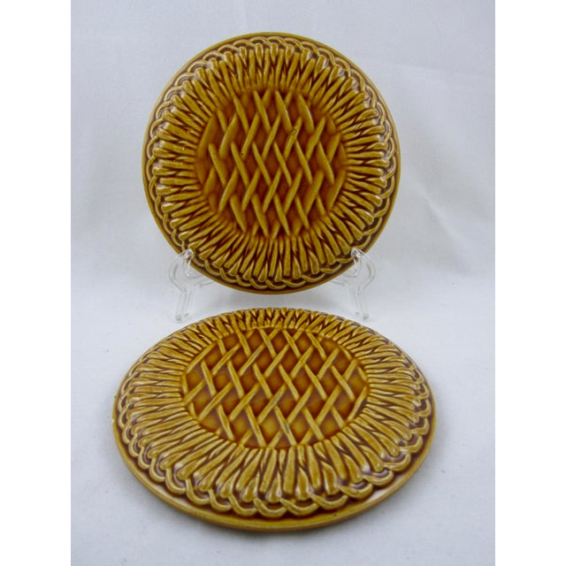 French Faïence Wine Bottle Coasters- A Pair - Image 2 of 9