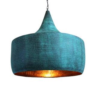 Copper Hammered Hat Lantern XL