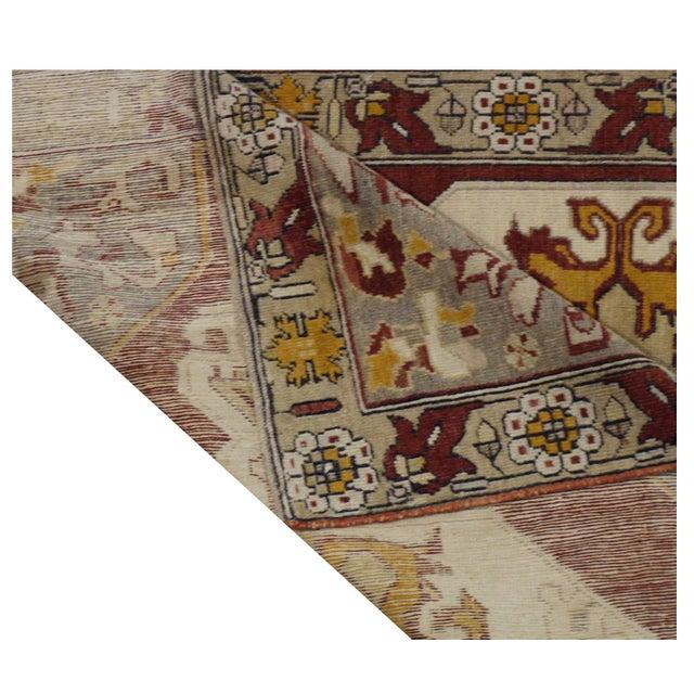 """Vintage Turkish Oushak Rug - 4'3"""" x 7'2"""" For Sale - Image 4 of 4"""