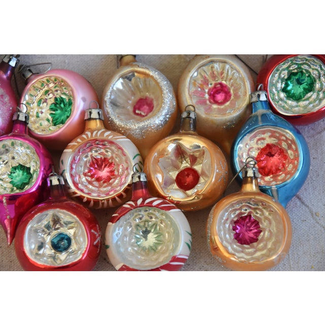 Vintage Fancy Indent Christmas Ornaments W/Box - Set of 12 For Sale In Los Angeles - Image 6 of 9