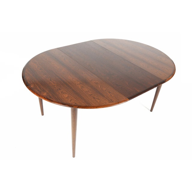 Rosewood Circular Dining Table With Two Leaves - Image 6 of 10