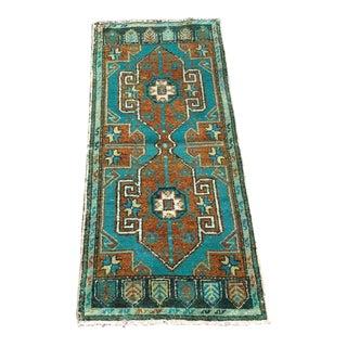 Small Vintage Turkish Rug For Sale