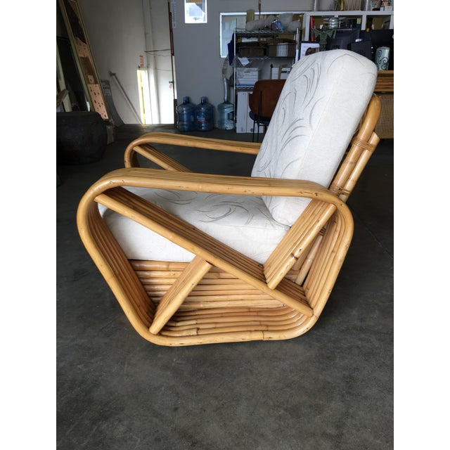 Wicker Restored Six-Strand Rattan Sofa and Lounge Chair Set - 2 Pc. For Sale - Image 7 of 11