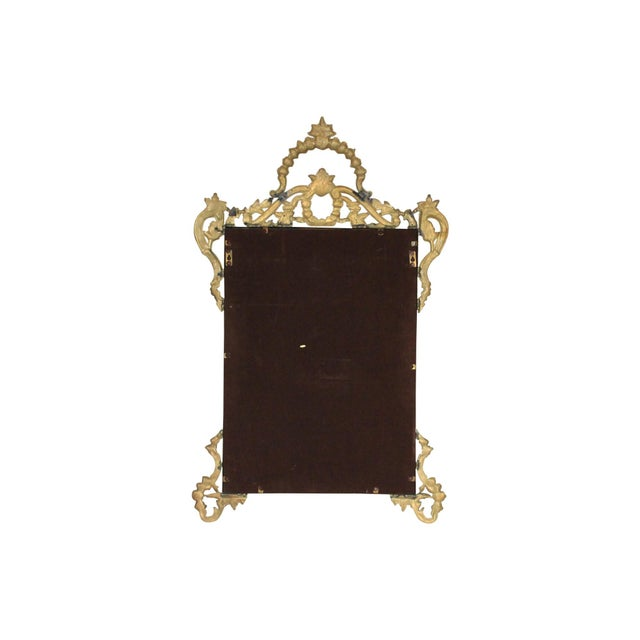 Ornate Brass Wall Mirror For Sale - Image 5 of 7