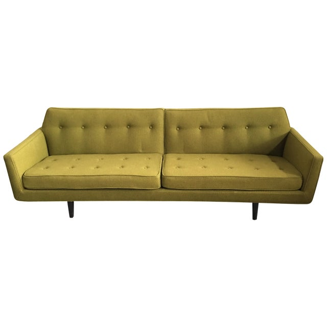 Edward Wormley for Dunbar Green Bracket Sofa - Image 1 of 7