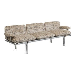 Pace Designed Tubular Chrome Framed Sofa 1960s For Sale