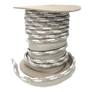 "Braided 1/4"" Indoor-Outdoor Cord in Sand-White For Sale"