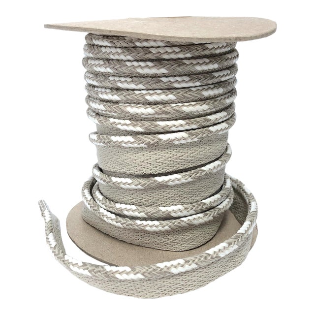 """Braided 1/4"""" Indoor-Outdoor Cord in Sand-White For Sale"""