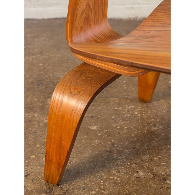 Brown 1950s Eames Ash LCW for Herman Miller Chair For Sale - Image 8 of 12