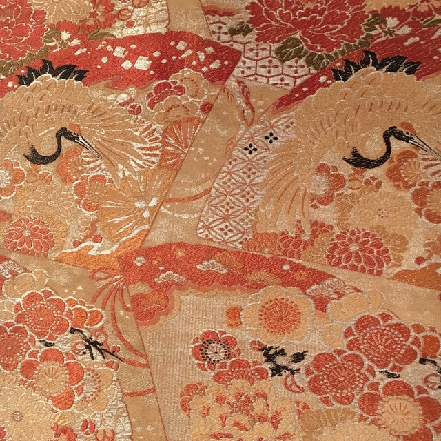 Vintage Japanese Silk Wall Tapestry For Sale In Houston - Image 6 of 7