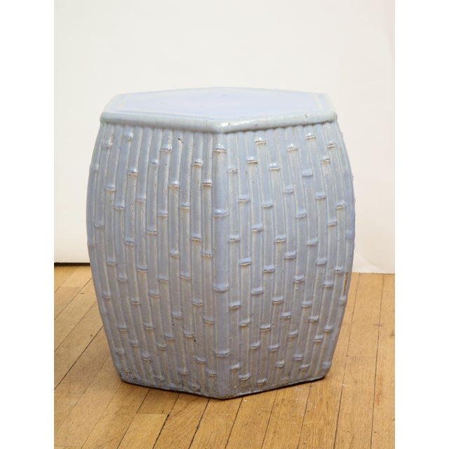 Faux Bamboo Garden Stools - A Pair For Sale - Image 9 of 13