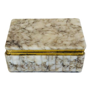 Vintage Marble Box For Sale