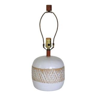 Martz Mid-Century Pottery Lamp For Sale