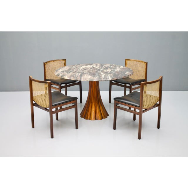 Angelo Mangiarotti Fantastic Tulip Marble Dining Table Cast Metal Italy 1960s For Sale - Image 4 of 13