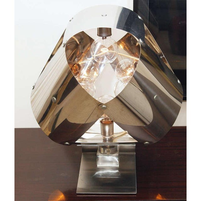 Chromed Metal Sculptural Table Lamp - Image 2 of 11