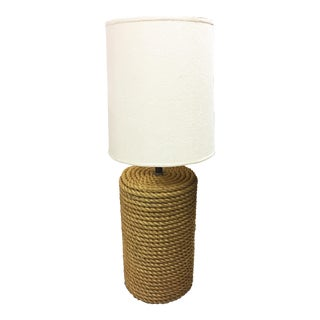 Oversized Rope Base Table Lamp For Sale