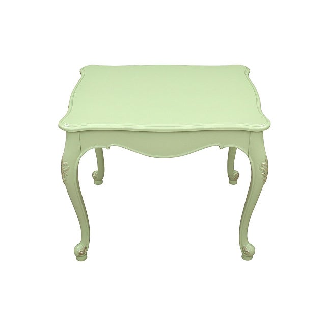 Mission Avenue Studio 1970s Queen Anne Apple Green Side Tables - a Pair For Sale - Image 4 of 7