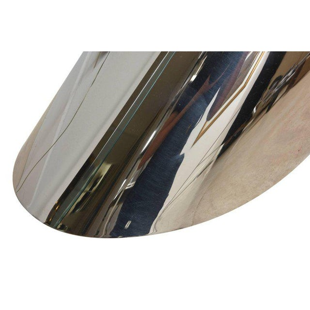 Metal Zephyr J. Wade Beam for Brueton Stainless Steel Angled Sculptural Side Table For Sale - Image 7 of 10