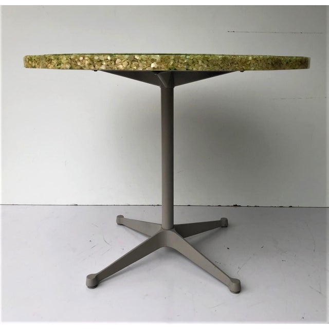 Mid-Century Modern Vintage Resin and Seashell Biomorphic Top Dining Table For Sale - Image 3 of 11