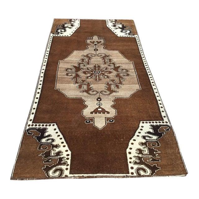Brown Turkish Area Rug For Sale
