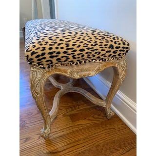 French Louis XVI Style Leopard Bench Preview