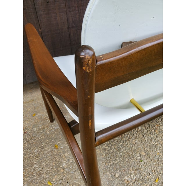 Mid 20th Century Danish Modern Style White Settee For Sale - Image 9 of 13