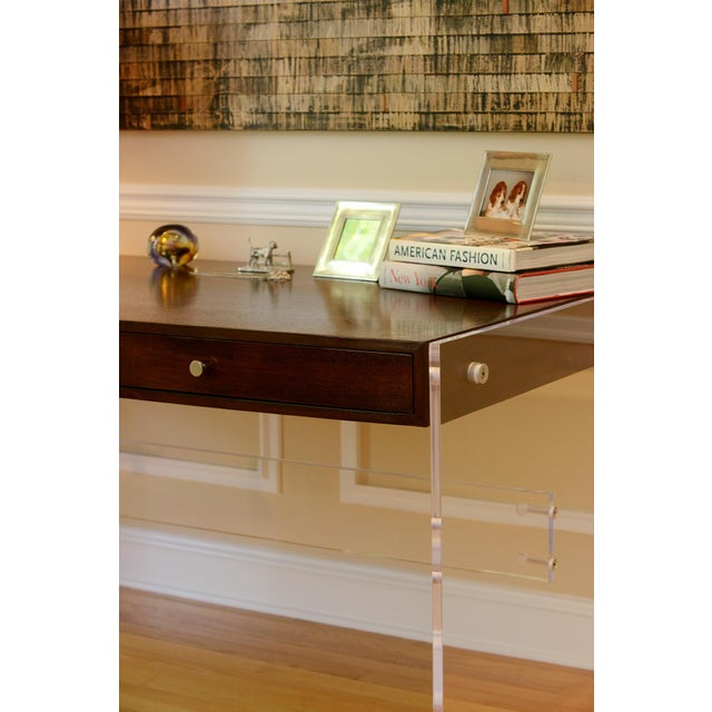 Contemporary Arthur Lucite Desk For Sale - Image 3 of 7