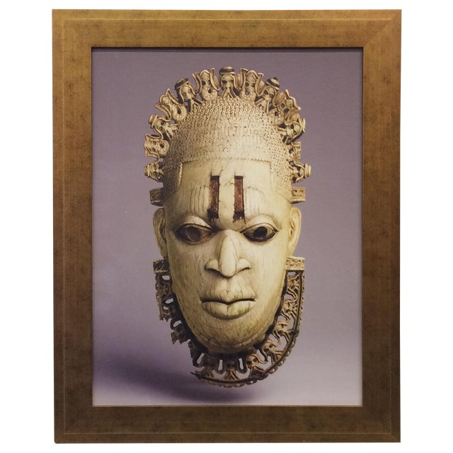 African Mask Photograph For Sale