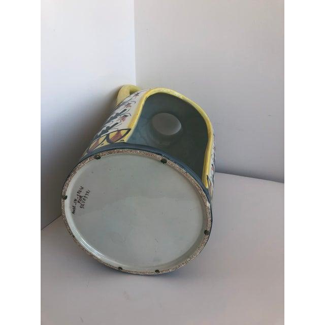Vintage Boho Glazed Ceramic Candle Holder -- Spain For Sale - Image 9 of 13