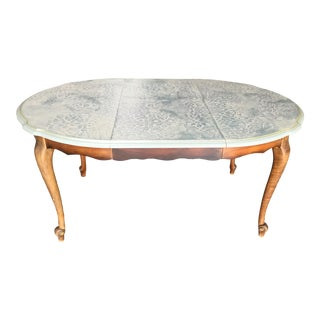 French Louis XV-Style Painted Dining Table For Sale