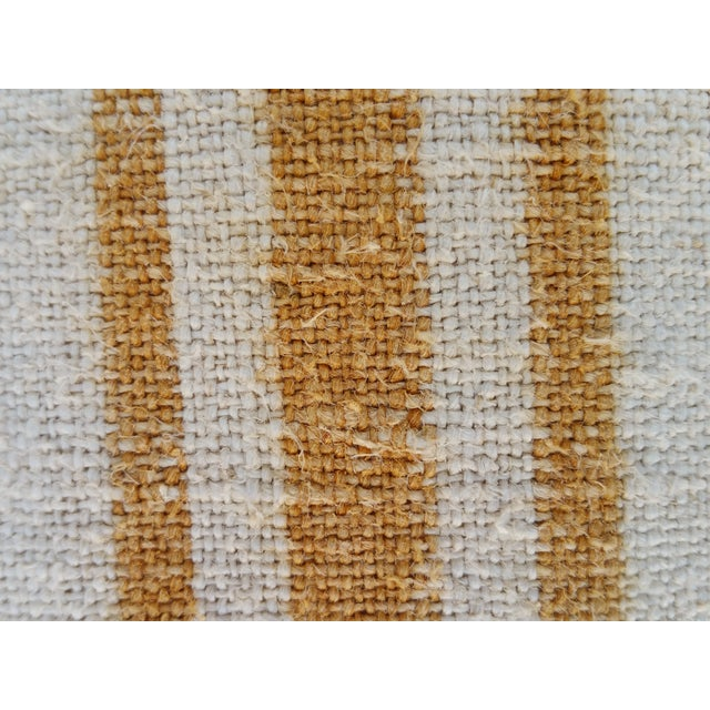 Faded Ochre Grain Sack Pillows - Pair - Image 5 of 6